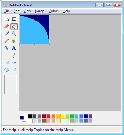 ms paint gradient windows 10